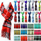 Внешний вид - For Womens Mens Winter 100% Cashmere Plaid Scarf Scotland Made Scarves Wool Wrap