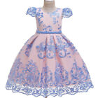 Flower Girl Party Dress Wedding Tutu Princess Formal Gown Dresses Size 4-10