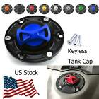 Motorcycle Fuel Gas Tank Cap Cover Aluminum Keyless Fit For Triumph Rocket III