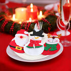 Christmas Cutlery Tableware Holder Xmas Decor Candy Cover Wine Bottle Cover S7C3
