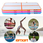 10FT Airtrack Air Track Floor Inflatable Gymnastics Tumbling Mat GYM W/ Pump AD image