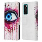 OFFICIAL PIXIE COLD EYES LEATHER BOOK CASE FOR HUAWEI PHONES