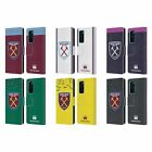 WEST HAM UNITED FC 2019/20 CREST KIT LEATHER BOOK CASE FOR HUAWEI PHONES