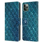 HEAD CASE MERMAID SCALES LEATHER BOOK WALLET CASE FOR APPLE iPHONE PHONES