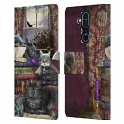 BRIGID ASHWOOD CATS LEATHER BOOK WALLET CASE COVER FOR MICROSOFT NOKIA PHONES