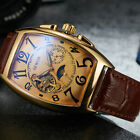 Men's Luxury Mechanical Automatic Steampunk Self Winding Watch Barrel Shape USA image