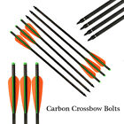 Archery Carbon Arrows Crossbow Bolts with Fletched 4'' Vane Black Bow Hunting