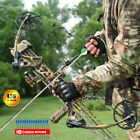 Right Hand Compound Bow Kit Carbon Arrows Set 19-70lbs Target Hunting + Arrows