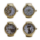 Watches Elastic Lady Quartz Steel Round Creative Girl Popular Finger Ring 1 Pcs image