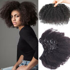 peruvian afro kinky curly clip in human hair extensions real thick 100g short 8