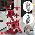 180cm Cat Tree Floor to Ceiling High Scratching Post Tower Activity Centre UT