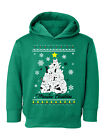 Ugly Xmas Hoodie for Boys Girls Toddler Meowee Christmas Sweater