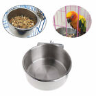 Stainless Steel Animal Hang-on Bowls Metal Dog Crate Cage Food Water Bowl ONE