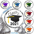 (108) 2020 Graduation Party Favors Fits Hershey Kiss Kisses Labels Envelope Seal