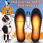 Rechargeable Heated Insoles Foot Warmer Heater USB Shoes Pad Boots Charging USA