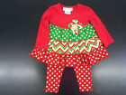 Infant Girls Bonnie Baby by Bonnie Jean Holiday Dress Top  Leggings Size 3/6Mth