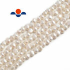 Kyпить White Fresh Water Pearl Center Drill Nugget Beads 4mm 6mm 8mm 10mm 14