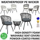 New 3pc Wicker Outdoor Round Table Chair Set Patio Garden Furniture 2 Setting