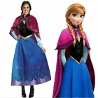 Xmas Anna Frozen Snow Queen Blue Adult Costume Cosplay Fancy Dress