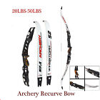 "Archery 20-40Ibs Recurve Bow Right Hand Hunting 64"" Takedown Longbow Target"