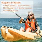 Adult Kid Life Jacket Watersport Survival Vestcoat Buoyancy Life Vest + Whistle