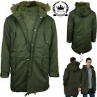 Relco Mens Green Fishtail Parka Jacket Coat Retro Mod Scooter 50s 60s 70s