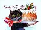 Whimsical Christmas Cat Clipart ~ Vintage Cats, Kittens ~ Cross Stitch Pattern