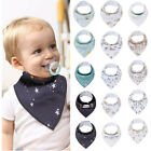 Внешний вид - Newborn Kids Baby Cartoon Feeding Cloth Bib Infant Folding Triangles Scarf Bibs