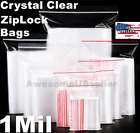 Kyпить 100 Bags Small Clear Reclosable Zip Lock 2x3 4x6 Plastic Ziplock Poly Zipper 1Mi на еВаy.соm