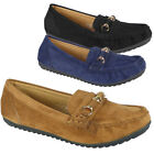 Womens Loafers Ladies Pumps Boat Slip On Flats Work Office School Comfy Shoes