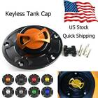Keyless Motorcycle Fuel Gas Tank Cap Cover Fit For Ducati Monster 796 All Year