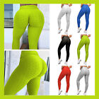Women's High Waist Ruched Butt Lift Textured Leggings Gym Fitness Yoga Pants