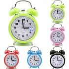 Silent Analog Alarm Clock Vintage Retro Vintage Night Light Extra Loud Twin Bell