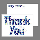 1-100 Pack of Thank You Cards Postcards Notes Envelopes A6 Thankyou Floral Blue