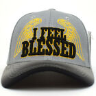 I Feel Blessed Embroidery Cap Original King Praying Hands Adjustable Hat NEW
