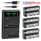 Kastar Battery LCD Dual Charger for Sony NP-F330 NP-F530 NP-F550 NP-F750 NP-F770