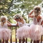 Kids Baby Girls Dress Birhtday Lace Princess Party Tutu Wedding Gown Size 1-5