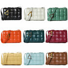 Quilted Real Leather Padded Woven Shoulder Bag Crossbody Bag Flap Purse Envelope