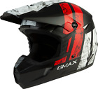 GMAX Youth MX-46Y Off-Road Dirt Dominant Helmet BLACK RED WHITE MATTE