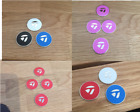 TaylorMade magnetic golf ball marker (sets of 2, 3 and 4 markers)