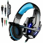 EACH G9000 3.5mm Gaming Headset USB LED Stereo Headphone for PC with Mic