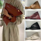 Real Leather Knotted Handle Twist Wristlet Clutch Sack Tote Bag Bracelet Purse