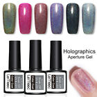 LEMOOC Holografisch Nagel Gellack UV Gel Pailletten Soak Off Nail UV Gel Polish
