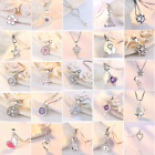 2020 New 925 Sterling Silver Pendant Necklace Women Fashion Jewellery 39 Style