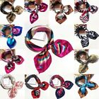 Womens Silk Feel Satin Square Scarf Small Vintage Head Neck Hair Tied Wristband