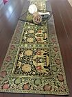 Table Runner/Tapestry, Brocade,16 X 60 Inch, Art Silk, Formal, Mandala, Elephant