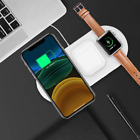 3in1 qi fast charging wireless charger dock stand for iphone airpods apple watch