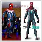 Newest Spiderman PS4 Velocity Costume Spiderman Cosplay Suit For Adult/Kids