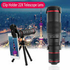 Universal 22X Zoom Telephoto Phone Camera Lens For iPhone Xs Samsung S10 LG Sony