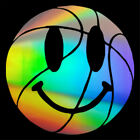 2pcs Smile Face On Basketball Stickers Car Window Truck Vinyl Decal Removable